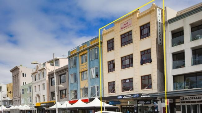 The iconic Bondi Backpackers hostel on Campbell Pde, Bondi has been sold for $18m to Wake Up! hostel